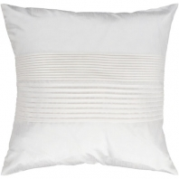 Surya Solid Pleated White Throw Pillow HH017