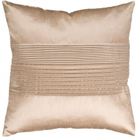 Surya Solid Pleated Beige Throw Pillow HH019