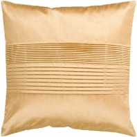 Surya Solid Pleated Beige Throw Pillow HH022