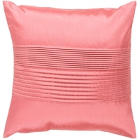 Surya Solid Pleated Pink Throw Pillow HH023