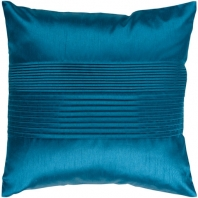 Surya Solid Pleated Blue Throw Pillow HH024