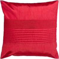 Surya Solid Pleated Red Throw Pillow HH025