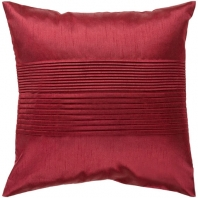 Surya Solid Pleated Garnet Throw Pillow HH026