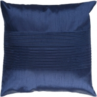 Surya Solid Pleated Blue Throw Pillow HH029