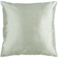 Surya Solid Luxe Green Throw Pillow HH031