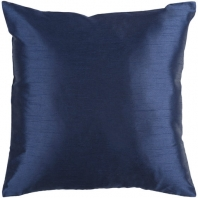 Surya Solid Luxe Blue Throw Pillow HH032
