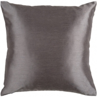 Surya Solid Luxe Black Throw Pillow HH034