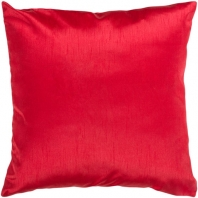 Surya Solid Luxe Red Throw Pillow HH035