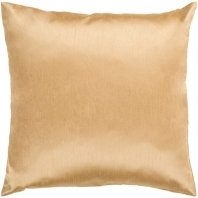 Surya Solid Luxe Beige Throw Pillow HH038