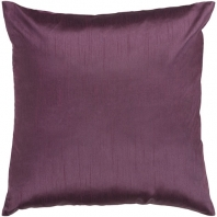 Surya Solid Luxe Purple Throw Pillow HH039