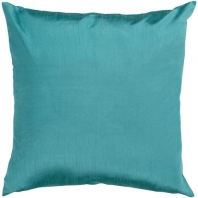 Surya Solid Luxe Green Throw Pillow HH041