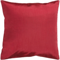 Surya Solid Luxe Red Throw Pillow HH042