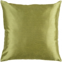 Surya Solid Luxe Green Throw Pillow HH043