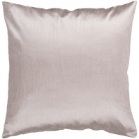 Surya Solid Luxe Beige Throw Pillow HH044