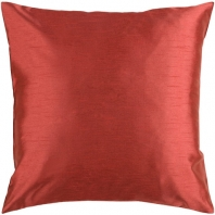 Surya Solid Luxe Red Throw Pillow HH045