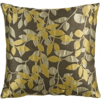 Surya Wind Chime Beige Floral Throw Pillow HH060
