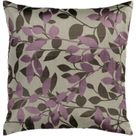 Surya Wind Chime Beige Floral Throw Pillow HH062