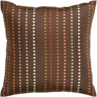 Surya Dots Brown Dots Mid-Century Throw Pillow HH081