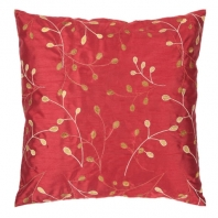 Surya Blossom II Red Floral Throw Pillow HH093