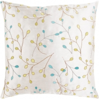 Surya Blossom II White Floral Throw Pillow HH129