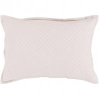 Surya Hamden Pink Stitching Flange Mid-Century Throw Pillow HMD001