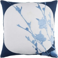 Surya Harvest Moon Blue Nature Scandinavian Throw Pillow HR002