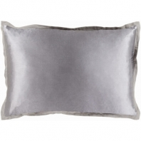 Surya Heiress Gray Flange Throw Pillow HS002