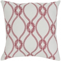 Surya Haylard Beige Rope Coastal Throw Pillow HYD001