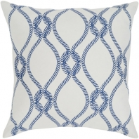 Surya Haylard Beige Rope Coastal Throw Pillow HYD002