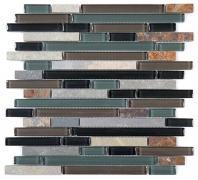 Tile Glass & Slate Forest Floor GS14