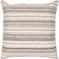 Surya Isabella Gray Scandinavian Throw Pillow IB002