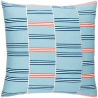 Surya Lina Blue Geometric Mid-Century Throw Pillow INA001