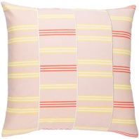 Surya Lina Pink Geometric Mid-Century Throw Pillow INA004