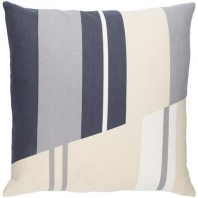 Surya Lina Black Geometric Mid-Century Throw Pillow INA008