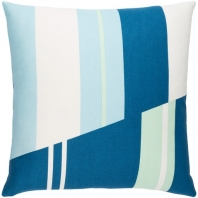 Surya Lina Blue Geometric Mid-Century Throw Pillow INA009