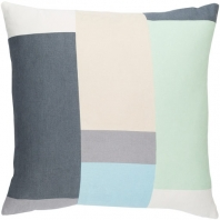 Surya Lina Blue Geometric Mid-Century Throw Pillow INA011