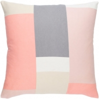 Surya Lina Pink Geometric Mid-Century Throw Pillow INA012