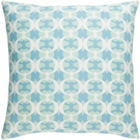 Surya Lina Blue Abstract Mid-Century Throw Pillow INA016