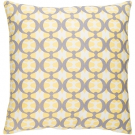 Surya Lina Yellow Abstract Mid-Century Throw Pillow INA017