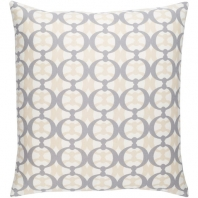 Surya Lina Beige Abstract Mid-Century Throw Pillow INA018