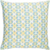 Surya Lina Blue Abstract Mid-Century Throw Pillow INA019