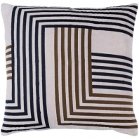 Surya Intermezzo Gray Geometric Mid-Century Throw Pillow INE001