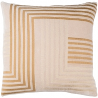 Surya Intermezzo Beige Geometric Mid-Century Throw Pillow INE002