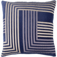 Surya Intermezzo Blue Geometric Mid-Century Throw Pillow INE003