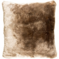 Surya Innu Beige Faux Fur Shag Throw Pillow IU001