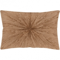 Surya Jena Beige Abstract Mid-Century Throw Pillow JEA001