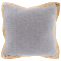 Surya Jute Flange Gray Flange Throw Pillow JF003