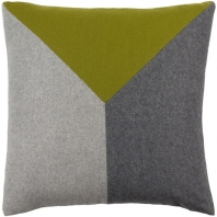 Surya Jonah Green Color Block Mid-Century Throw Pillow JH001