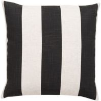 Surya Simple Stripe Black Stripe Coastal Throw Pillow JS009
