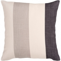 Surya Simple Stripe Black Stripe Coastal Throw Pillow JS011